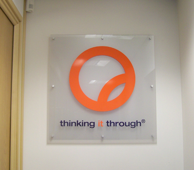Acrylic Wall sign with stand off fixings