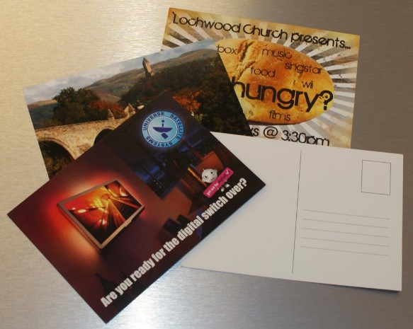 Digitly printed postcards Glasgow