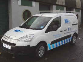 Van Livery design and installed by Glasgowbanners.co.uk